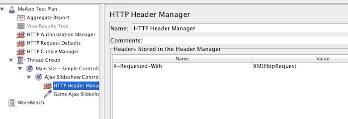 Header Manager